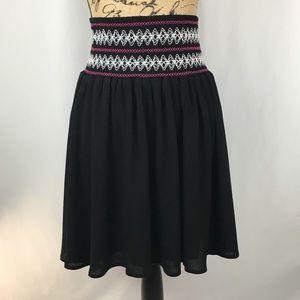 Torrid Black Elastic Smocked Waist Skirt Sz 2X